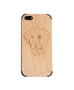 Cherry wood iPhone 5/5S case with labrador retriever image