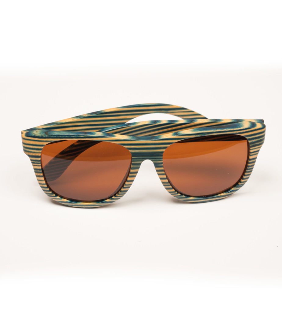 Blue zebra wooden glasses