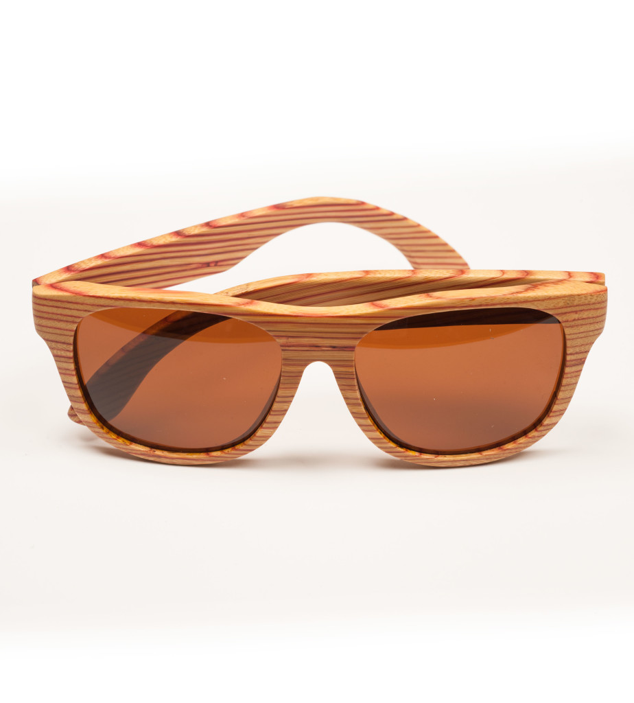 Red zebra wood glasses