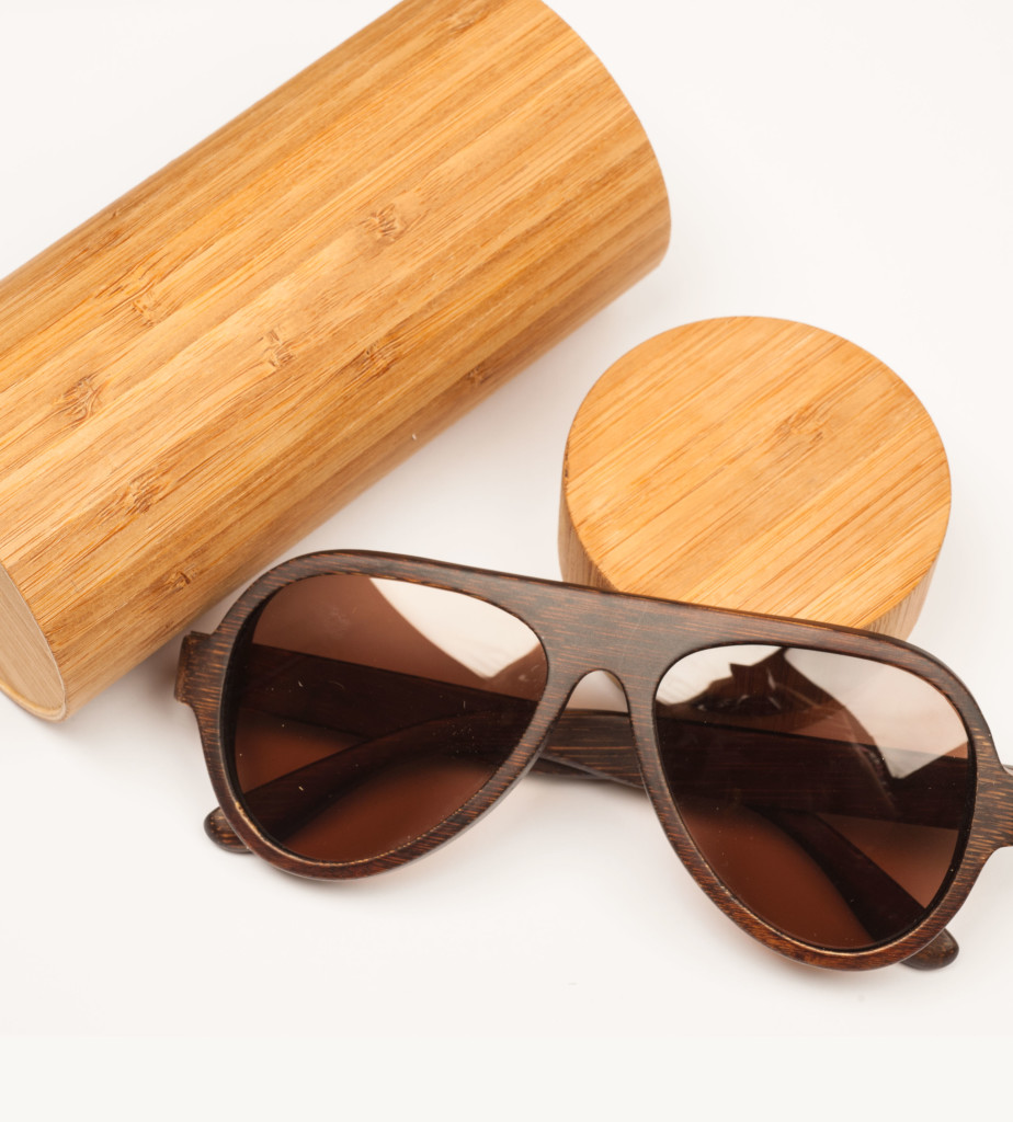 Dark wooden glasses