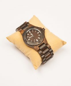 Green padauk wooden watch