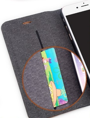 Bamboo and Leather iphone with pocket for cards