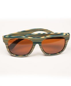 Blue Zebra Wooden stripey sunglasses