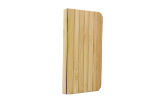 Front of Bamboo Wooden wallet case iPhone