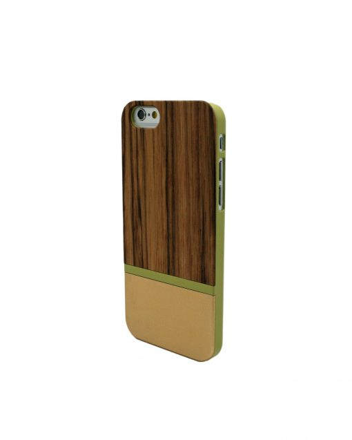 Iphone Case Zebra Wooden Gold Strip