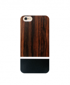 Padauk wood and black iPhone case