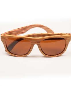 Red Zebra Wooden stripey sunglasses