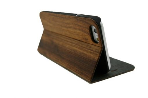 Zebra wooden wallet case