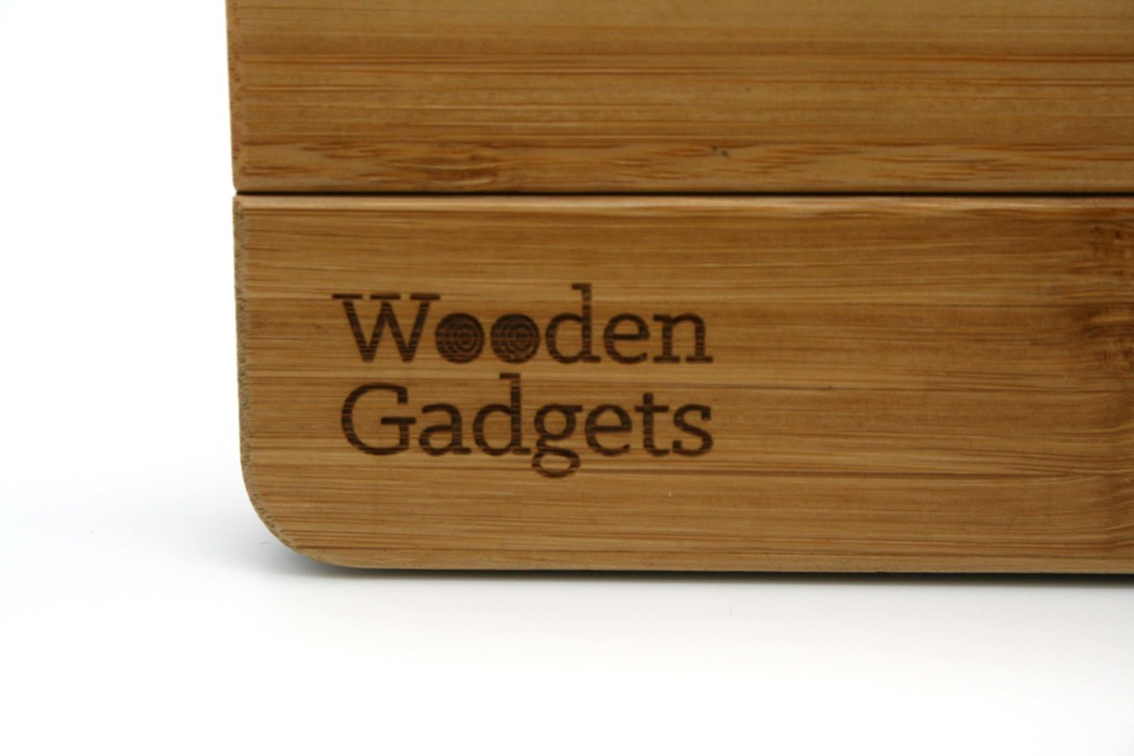 Engraved bamboo wooden iPad cover