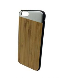 Bamboo and metallic silver iPhone 6 case