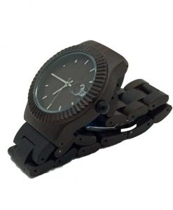 Dark Sandalwood Wooden Watch Side