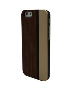 Rosewood and champagne metallic iPhone case