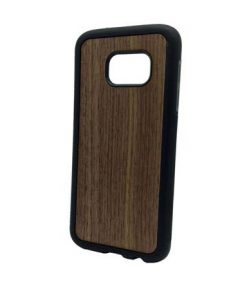 Walnut wood and soft pvc Galaxy S7 case