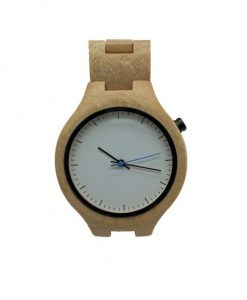 Bamboo watch with bamboo strap